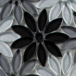 Floral Greys –  Bouquette Glass Series – Glazzio Glass Tile