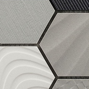 Cotton Balloons – Carnival Hexagons Glass Series – Glazzio Glass Tile