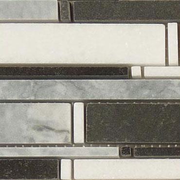 Mugworth + Thassos White + Basalt – Cascade Glass Series – Glazzio Glass Tile