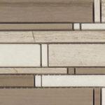Wooden White + Athen Gray + Thassos White – Cascade Glass Series – Glazzio Glass Tile