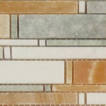 Honey Onyx + Ming Green + Thassos White – Cascade Glass Series – Glazzio Glass Tile