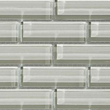 Crystile 1×3 Fog – Crystile Glass Series – Glazzio Glass Tile