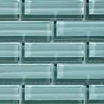 Crystile 1×3 Gray Sky – Crystile Glass Series – Glazzio Glass Tile