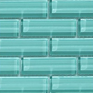 Crystile 1×3 Soft Mint – Crystile Glass Series – Glazzio Glass Tile