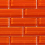 Crystile 1×3 Orange Burst – Crystile Glass Series – Glazzio Glass Tile