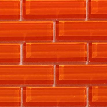 Crystile 1×3 Orange Burst – Crystile Glass Series – Glazzio Glass Tile