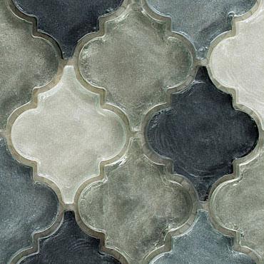 Waterfall Grey – Dentelle Glass Series – Glazzio Glass Tile