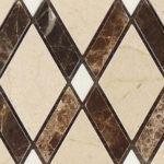 Crema Marfil + Emperador Dark + Thassos White – Diamond Glass Series – Glazzio Glass Tile