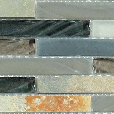 Northampton Putty – Glass & Slate Brick Glass Series – Glazzio Glass Tile
