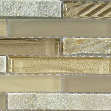 Contemporary Mocha – Glass & Slate Brick Glass Series – Glazzio Glass Tile