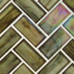 Nautical Garden – Oceania Herringbone Glass Series – Glazzio Glass Tile