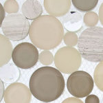 Whipped Cream – Symphony Bubble Glass Series – Glazzio Glass Tile