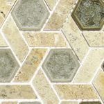 Olympus Shade – Tranquil Hexagon Glass Series – Glazzio Glass Tile