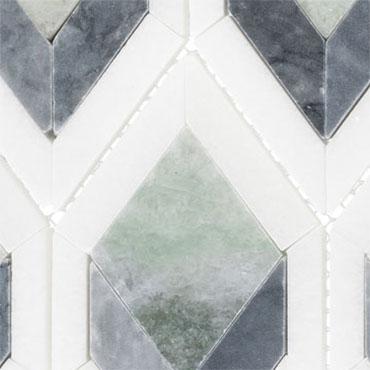 Cornflower Way – Ashbury Series – Glazzio Glass Tile – Details