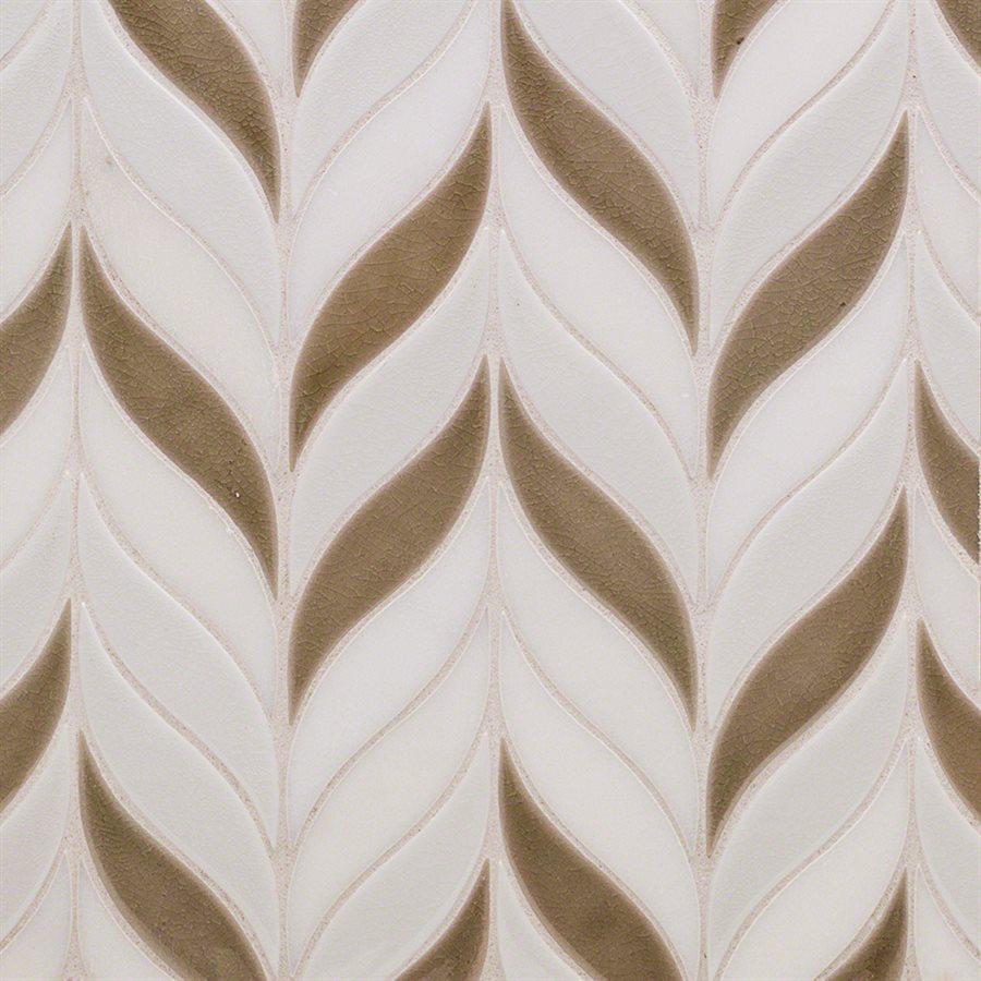 Baroque Floret Firma, Blanco & White Jade – Baroque Series – Glazzio Glass Tile
