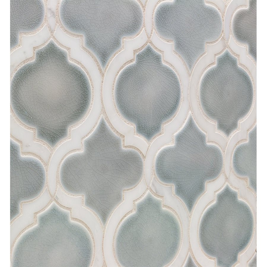 Baroque Lantern Sky with Asian Statuary Lines – Baroque Series – Glazzio Glass Tile