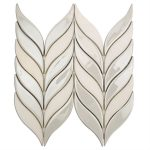 Baroque Floret Blanco & White Jade – Baroque Series – Soho Glass Tile