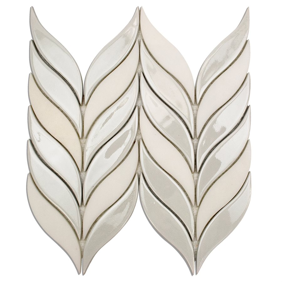 Baroque Floret Blanco & White Jade – Baroque Series – Glazzio Glass Tile