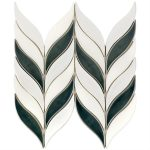 Baroque Floret Capri & White Jade – Baroque Series – Soho Glass Tile