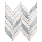 Baroque Floret Sky, Blanco & White Jade – Baroque Series – Soho Glass Tile