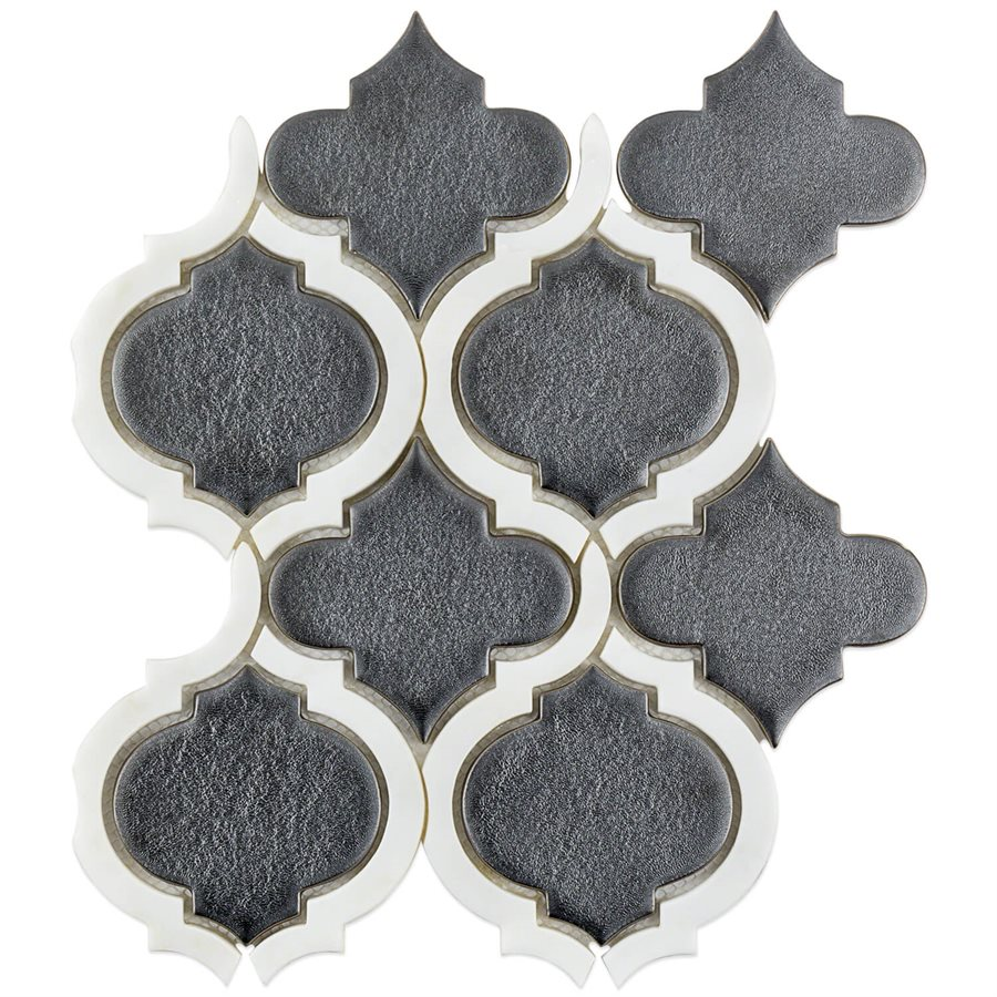 Baroque Lantern Gun Metal with Asian Statuary Lines – Baroque Series – Soho Glass Tile