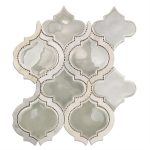 Baroque Lantern Grigio with Asian Statuary Lines – Baroque Series – Glazzio Glass Tile