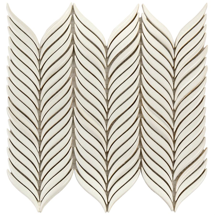 Baroque Petals Blanco – Baroque Series – Soho Glass Tile