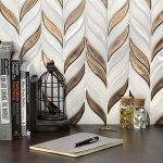Baroque Floret Copper & White Jade – Baroque Series – Soho Glass Tile