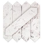 Capitol Glass Tile – Artisan Glazed Bianco 2×8