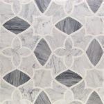White Carrara, Bardiglio Nuvelato & White Thassos – Alstromeria Series – Soho Glass Tile