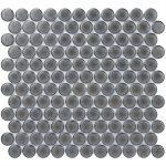 Denim 1″ Chard Black Circles