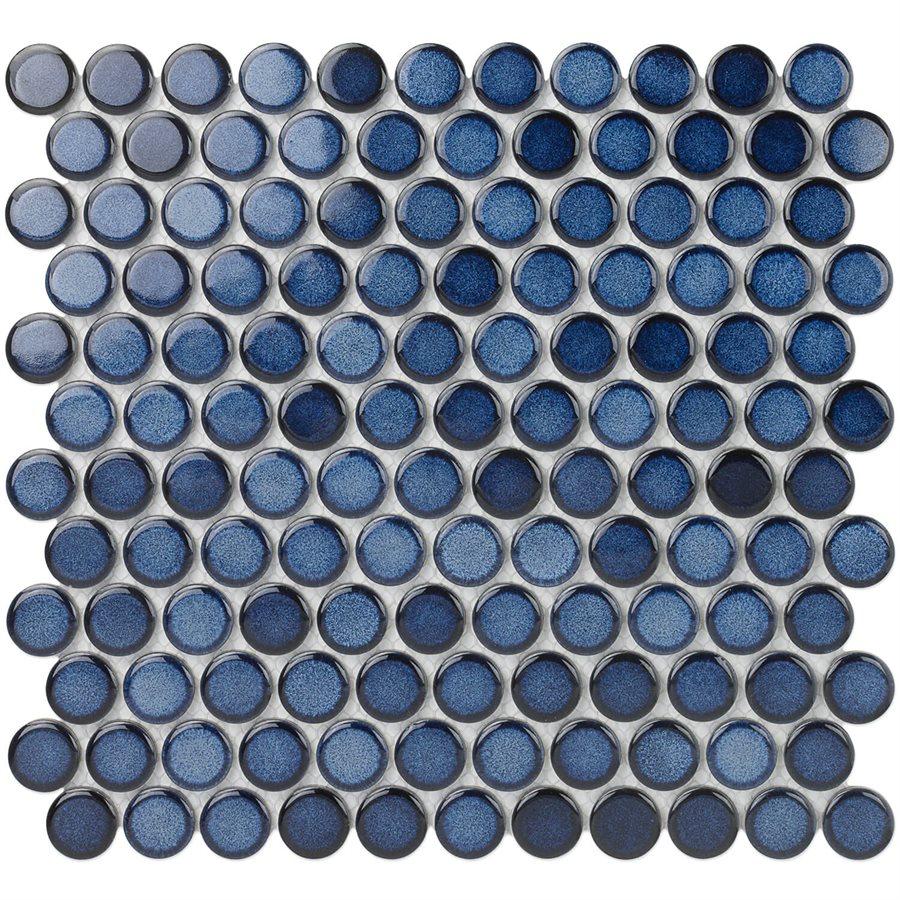 Denim 1″ Faded Cobalt Circles