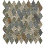 Rustic Slate Diamond – Art Glass Series – Soho Glass Tile