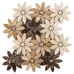 Chestnut Blossoms – Bouquette Glass Series – Glazzio Glass Tile