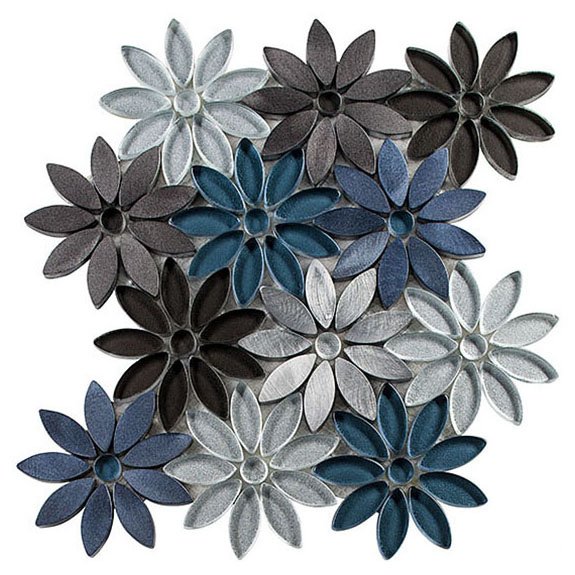 Hydrangea Thicket – Bouquette Glass Series – Glazzio Glass Tile