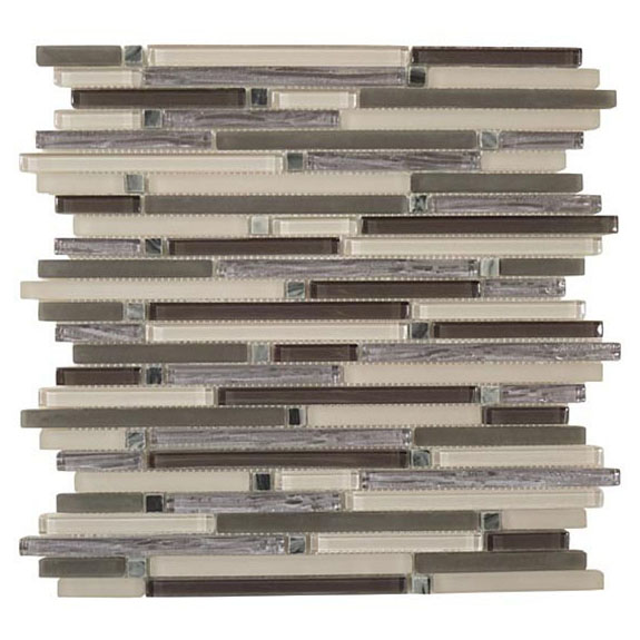 Charcoal Valley – Brush Stroke Glass Series – Glazzio Glass Tile
