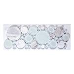 White Dove – Bubble Listello Glass Series – Glazzio Glass Tile