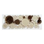 Warm Brownie – Bubble Listello Glass Series – Glazzio Glass Tile