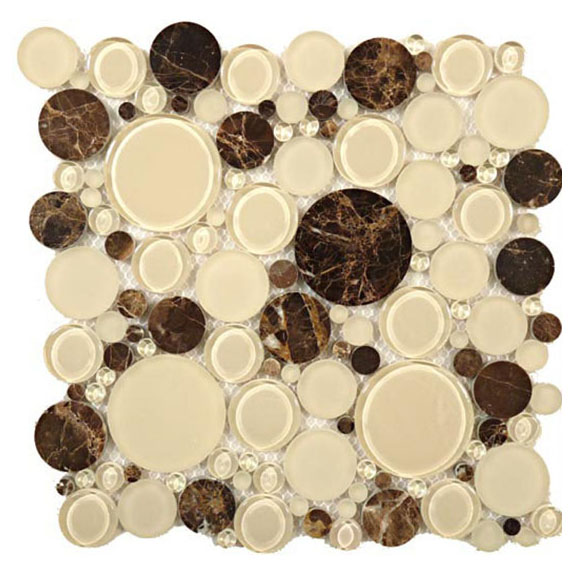 Warm Brownie – Bubble Glass Series – Glazzio Glass Tile