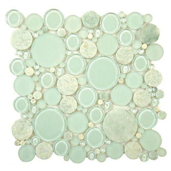 Moonstone – Bubble Glass Series – Glazzio Glass Tile