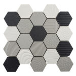 Cotton Balloons – Carnival Hexagons Glass Series – Glazzio Glass Tile