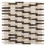 Striped Birch – Country Breeze Glass Series – Glazzio Glass Tile