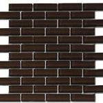 Crystile 1×3 Chocolate – Crystile Glass Series – Glazzio Glass Tile