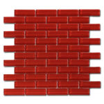 Crystile 1×3 Ruby Red – Crystile Glass Series – Glazzio Glass Tile