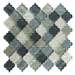 Waterfall Grey – Dentelle Glass Series – Glazzio Glass Tile