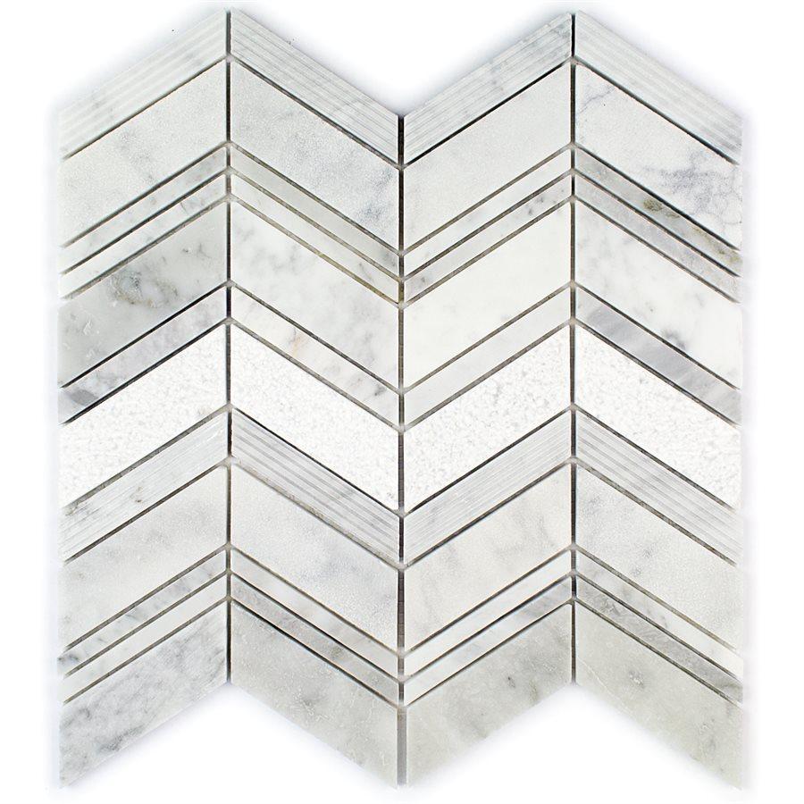 Carrara – Field Stone Glass Series – Glazzio Glass Tile