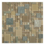 Contemporary Mocha – Glass & Slate Block Random Glass Series – Glazzio Glass Tile