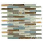 Winter Scape – Glass & Slate Brick Glass Series – Glazzio Glass Tile