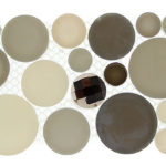 Platinum Foam – Symphony Bubble Listello Glass Series – Glazzio Glass Tile
