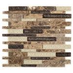 Mocha Canyon – Tranquil Random Brick Glass Series – Glazzio Glass Tile